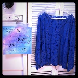 Blue Alfani Lace Top